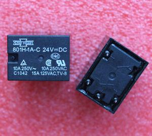 2pcs 801H-1A-C 24VDC Relay