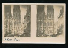 Germany COLOGNE Kolne cathedral novelty STEREO c1920/30ss? PPC