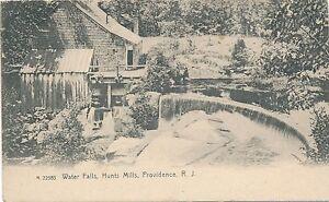 PROVIDENCE RI – Hunts Mills Waterfalls Water Falls Rotograph Postcard – udb
