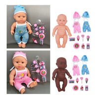 2pc 23cm Silicone Reborn Doll Girl Soft Accessories Handmade Toys Gifts