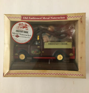 Chestnut Creek 3551 Old  Fashioned Metal Truck Nutcracker On Stand In Box