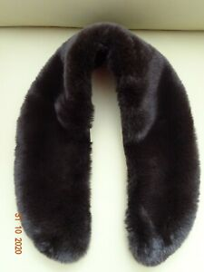 Kunstfell-Kragen (Plüsch) mit Hakenverschluss, Farbe: braun - NEU