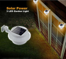Solar Powered LED Fence Light Outdoor Garden Wall Lobby Pathway Lamp. White, New