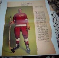 Gordie Howe # 7 issue Weekend Magazine Photos 1963 -1964 Toronto Star  # lot 3