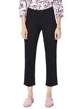 NYDJ Women's Denim Straight Ankle Jeans (Black, 10)