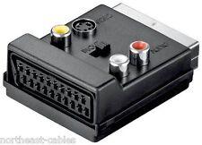 Wentronic 50312-GB SCART Adapter Plug/Jack 3 x RCA Jack and 4pol Mini DIN THRU