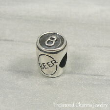 925 Sterling Silver Beer Can Charm - Large Hole Bead fits European Bracelet