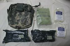 US Military MOLLE IFAK Improved First Aid Kit Complete with Supplies Quik Clot