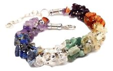 7 Chakra Gem Chip Crystal Bracelet Beaded Reiki Energy Gemstone Jewellery