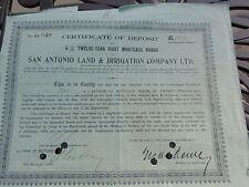 México-San Antonio Bond/certificado de acciones/recibos de depósito