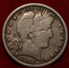 1907-O New Orleans Mint Silver Barber Half Dollar