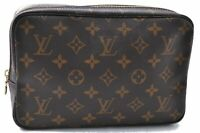Auth Louis Vuitton Monogram Trousse Toilette 23 Clutch Hand Bag M47524 LV B7190