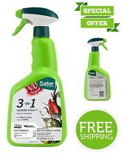 Safer Brand 3-in-1 Garden Spray Organic Formula for Mildew Black Spot Leaf Spot