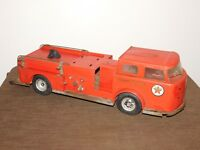 """VINTAGE TOY 25"""" BUDDY L TEXACO FIRE CHIEF METAL FIRE TRUCK"""