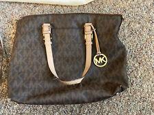 Michael Kors Brown PVC Signature Tote Handbag Tote