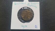 Germany 1924 Deutsches Reich 10 Renten Pfennig coin.