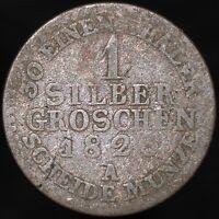 1825 A | German States Prussia 1 Groschen | Silver | Coins | KM Coins