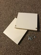 2 x Spare Shelves for IKEA CD DVD Case - White with Pegs (Benno and Billy)