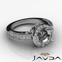 Diamond Engagement Wedding Halo Setting Ring 18k White Gold Round Semi Mount 1Ct