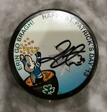 Logan Couture San Jose Sharks Autographed Mystery Puck St. Patrick's Day 2013
