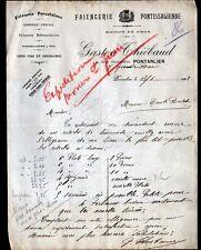 "PONTARLIER (25) FAIENCES / FAIENCERIE PONTISSALIENNE ""Gaston THIEBAUD"" en 1928"
