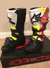 Alpinestars Tech 5 Motocross Dirt Bike Offroad Boots Yellow/Red/Black Size 5 NEW