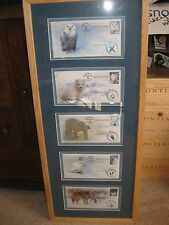 5 First Day of Issue Animals of the Arctic Envelopes Framed 33 Cent Mint MNH