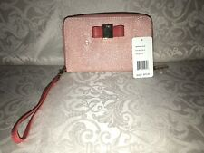 IVANKA TRUMP Blair Clutch Wristlet Wallet Coral Tan Lining #ITS219 Color:623
