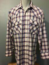 5dae3c1b Vtg 70s 80s Levis 2 Shirt Lot Plaid Pearl Snap Western Mens L Cowboy Hippy  Disco