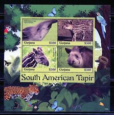 GUYANA  2019 TAPIR  SHEET OF FOUR  MINT NEVER HINGED
