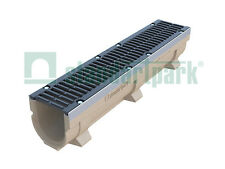Standartpark - 6 inch polymer concrete trench drain channel w/ cast iron grate