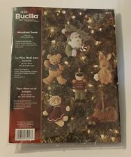 Bucilla Felt Ornaments Woodland Santa 6 Piece Set #85116