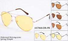 Polarized Driving Sunglasses Nigth Vision Enhanced HD Daytime Aviator Glasses