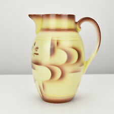 Art Deco Bauhaus Era Porcelain Chocolate Jug by Leuchtenburg Spritzdekor