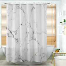Marble Print Shower Curtain Waterproof Mildewproof Polyester Fabric Bathroom ONE