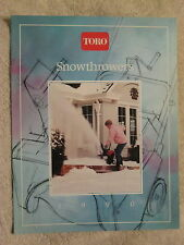 1990 TORO SNOW THROWERS & ACCESSORIES 16 PAGE BROCHURE NICE