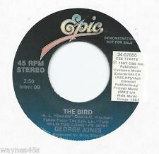 GEORGE JONES * 45 * The Bird * 1988 * MINT UNPLAYED * DJ PROMO * USA Vinyl Press