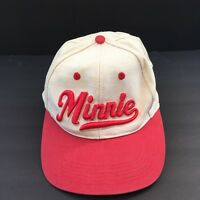 Disney Minnie Cream Red 100% Cotton Adjustable Cap  Hat