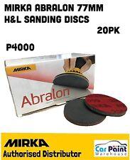 """Mirka Abralon Ø 77mm 3"""" 4000 Grit Lijado De Velcro máquina de espuma Disco/Pad años 20"""