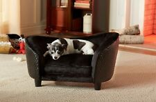 Dog Couch Raised Sofa Bed Sleeper Black Cozy Furniture Indoor Small Pet Cat