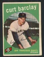 1959 Topps #307 Curt Barclay VG/VGEX Giants 65192