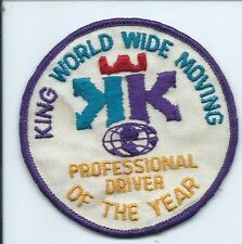 King World wide moving patch professional driver of the year 3-1/2 #1185