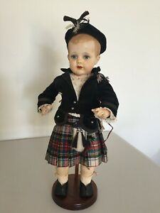 Antique Large, 47cm, Polish made, all original, Boy Celluloid Doll