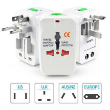 World Universal Travel Adapter with USB Convertor wall Plug Power US UK AU WK