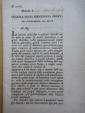 1814-DIPARTIMENTO DEL MELLA-BRESCIA-DOPO NAPOLEONE-QUINZANO D'OGLIO