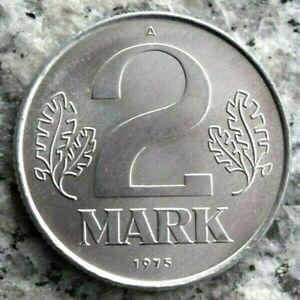 2 Mark 1975 A Kursmünze DDR in Aluminium - Erhaltung !