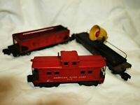 American Flyer Trains Lot of 3 Cars # 716, 42597, 936 For Restoration