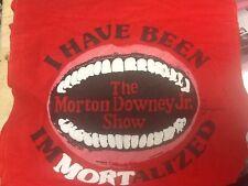 MORTON DOWNEY JR SHOW SCARF RARE!! MINT !! ZIP IT & I'VE BEEN IMMORTALIZED