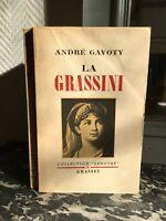 Dedica Andre Gavoty La Grassini Collezione Lenotre Bernard Grasset 1947