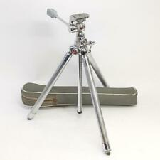 Velbon Deluxe Vintage Tripod Compact Telescopic Ball Head Pan/Tilt/Swivel Japan